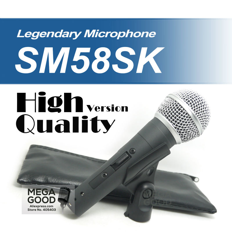 Free Shipping! High Quality Version SM 58 58S SM58S SM58SK Dynamic Handheld Karaoke Wired Microphone Mike Mic with on/off Switch(China (Mainland))