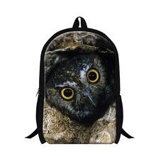 Buy 2016 new design animal owl print backpack children teen boys cool mochila bookbags,girls school back pack Schoolbag Students for $19.75 in AliExpress store