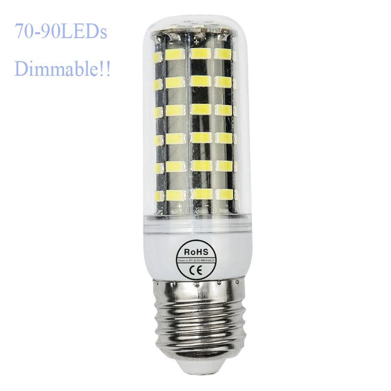 5pcs/lot Smart IC LED 220V E27 SMD5735 70 80 90leds lamp E14 LED light corn bulb lamp stabler than G9 5730 2835 4014smd(China (Mainland))