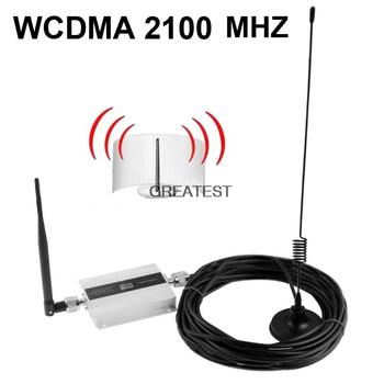 Family 3G WCDMA 2100MHZ Mobile Phone Signal Booster Signal Repeater Cell Phone Amplifier With Cable + Antenna Drop Shipping