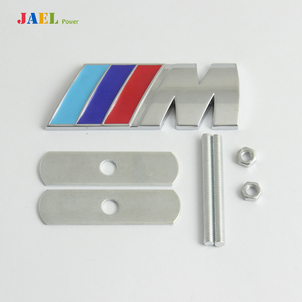 3D Chrome Metal ///M Logo Car Front Grille Emblem Badge For BMW M3 M5 M6(China (Mainland))