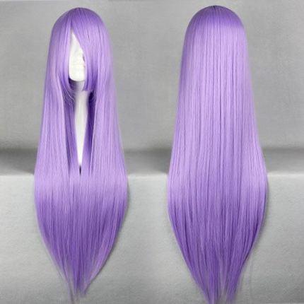 80CM Higurashi no Naku Koro ni Kira Hanyu Furude Hanyuu Light Purple Long Straight Cosplay Wig Free Shipping<br><br>Aliexpress