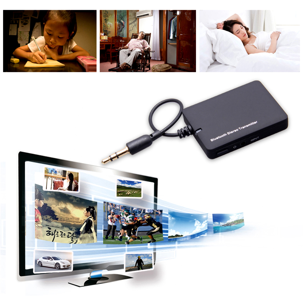 Mini 3.5mm Bluetooth Audio Transmitter A2DP Stereo Dongle Adapter for TV iPod Mp3 Mp4 PC(China (Mainland))