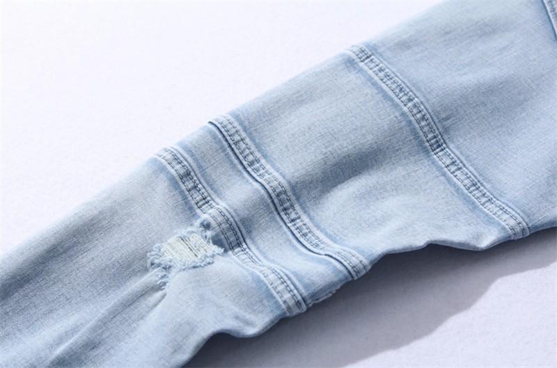 Скидки на 2016 новая мода повседневная синий/черный джинсы мужские Тонкий Мужчины плотно рваные джинсы бесплатный shippingsize 28 29 30 31 32 33 34 36 38 40