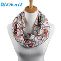 Newly Design Women Ladies Owl Cartoon Print Scarf Warm Wrap Shawl O Neck Rings 160405 Drop