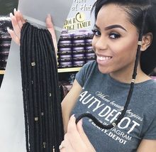 The Fastest And Easiest Faux Locs 14″ 100g/pack Janet Collection 2X Havana Mambo Twist Dread Faux Locs Braids Crochet Hair