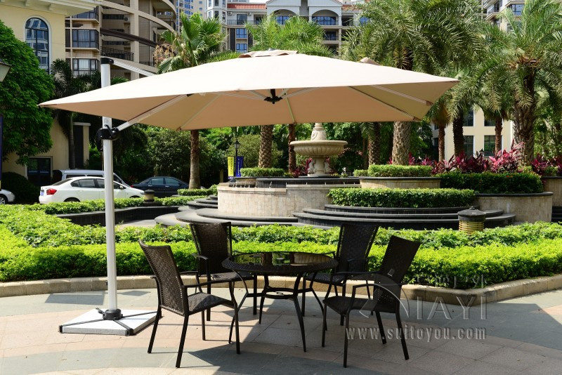 3x3 meter outdoor sun umbrella parasol garden furniture cover patio sunshade