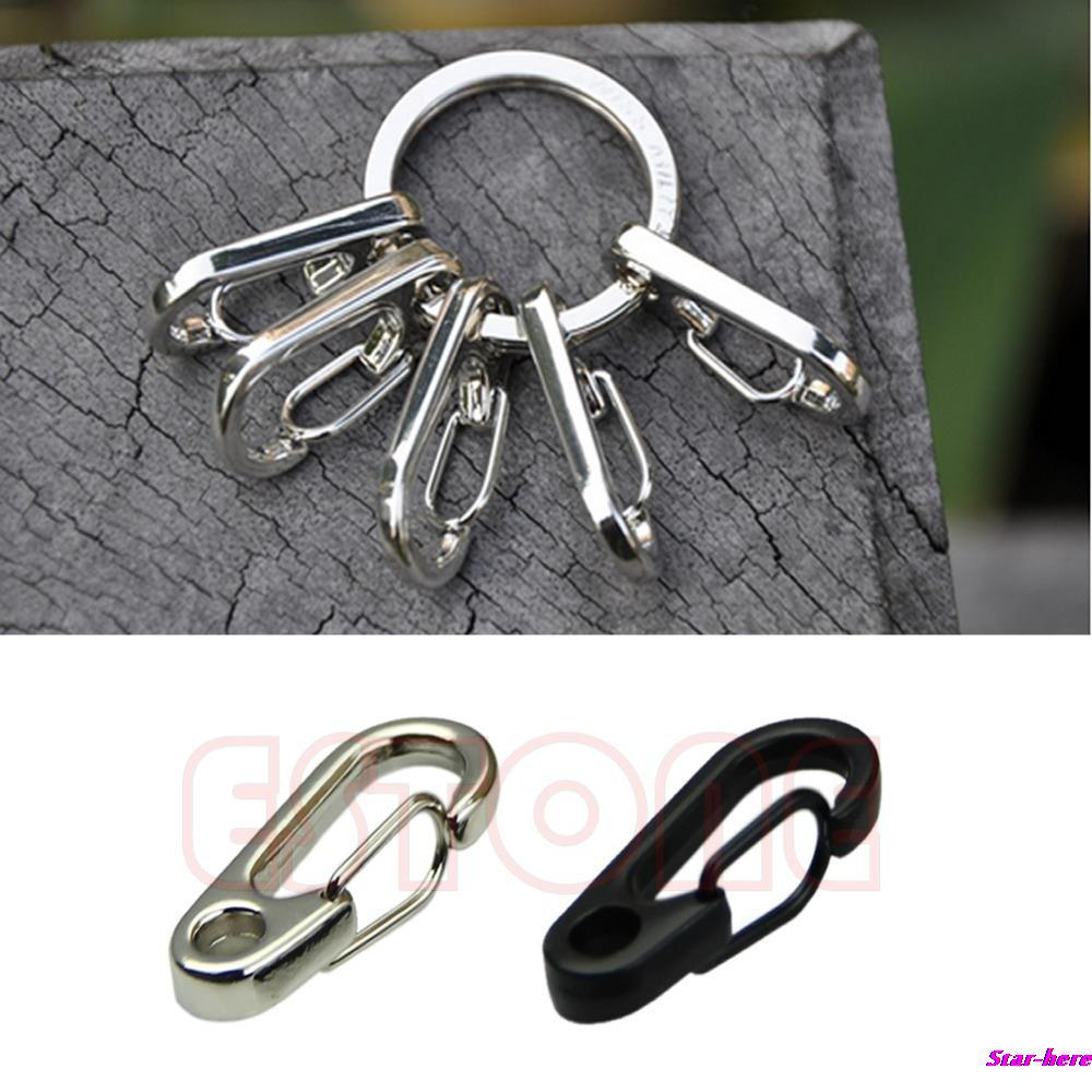 U119 10Pcs/Lot Spring Hook Clip Snap Shackle Stainless Steel Key Chains Clasps Style Fast Hook Free Shipping(China (Mainland))