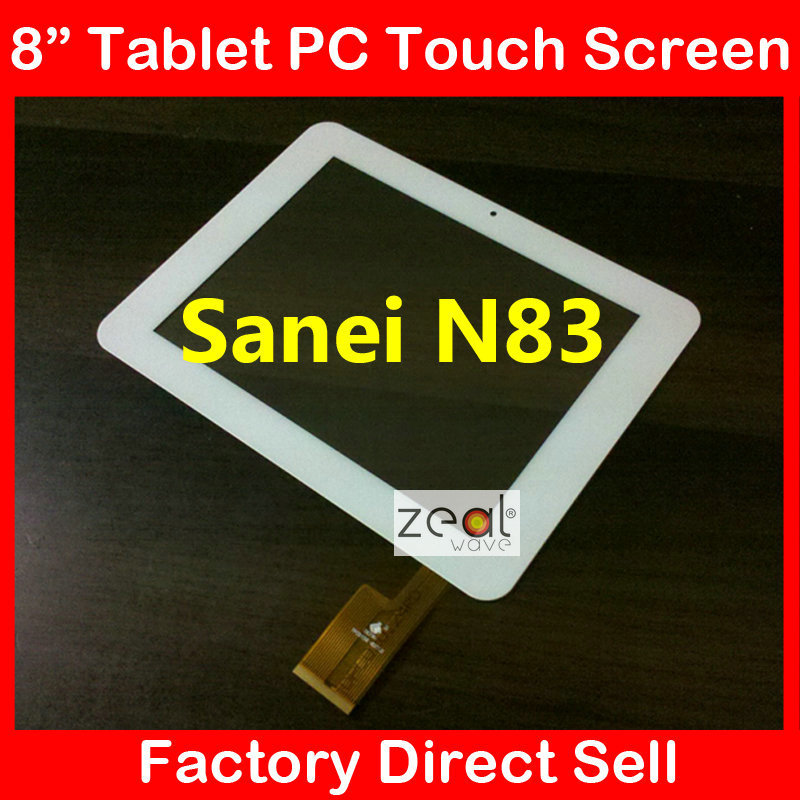 """8"""" 8Inch Capacitive Touch Screen Digitizer Glass Replacement for Sanei N83 AMPE A85 TPC0156 White(China (Mainland))"""