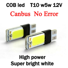 t10 w5w led cob canbus Clearance external lights 2x bright error free t 10 5w 12v parking auto 5w5 Lamp car white bulb styling - Superlight Co. Ltd store