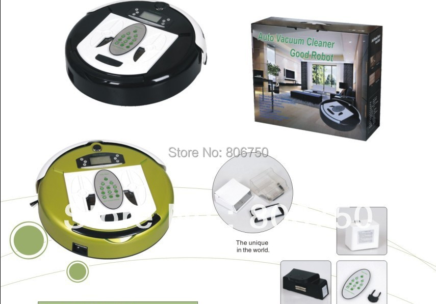 (Good News For Russian Buyer) 4 In 1 Multifunctional Robot Vacuum Cleaner+Larger Dustbin +Auto Recharge+Virtual Wall+UV lights