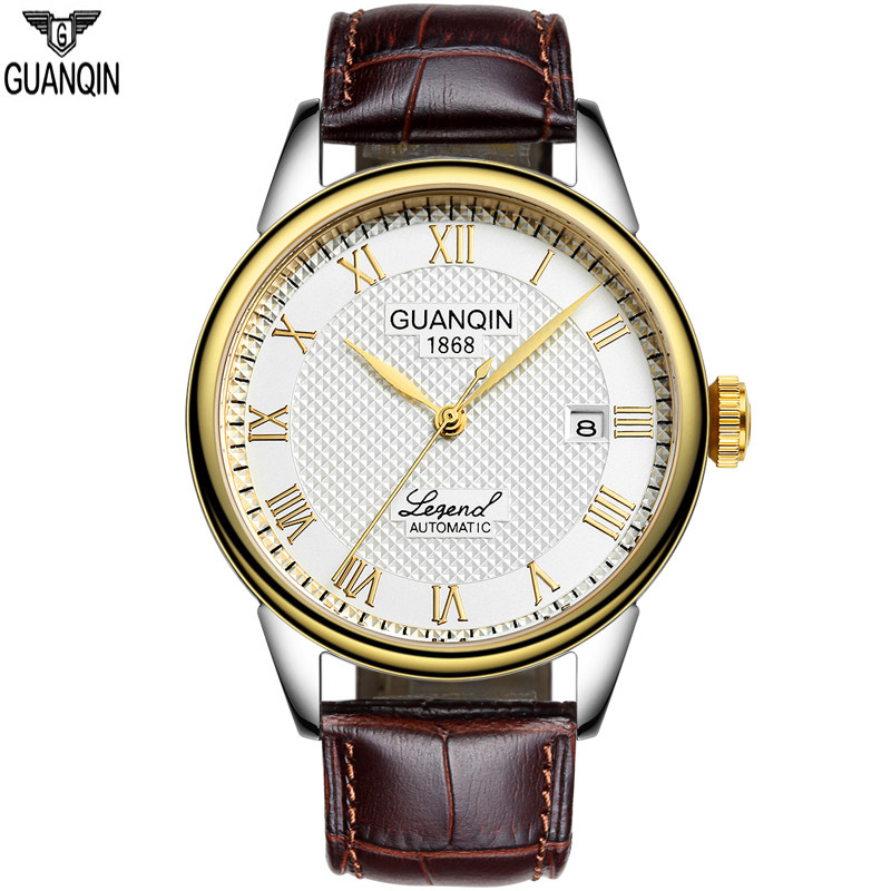 2016guanqin s waterproof automatic mechanical watches