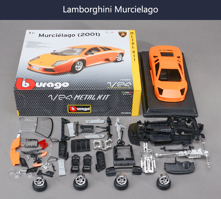 For Lamborghini Murcielago 1:24 Assembly model ALLOY TOY VEHICLE DIY Block CAR MODEL Toys Toy car(China (Mainland))
