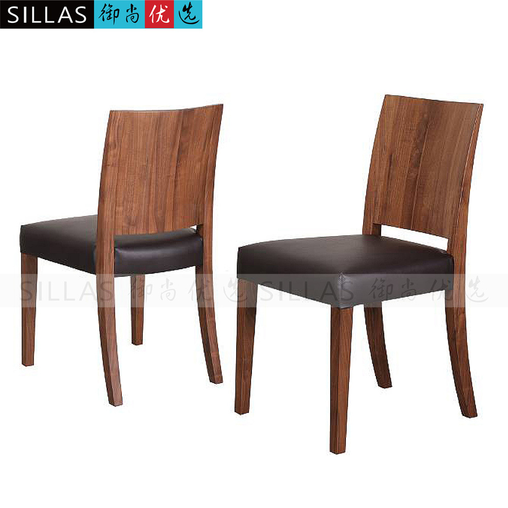 black walnut wood dining chair dinette leather leather chairs