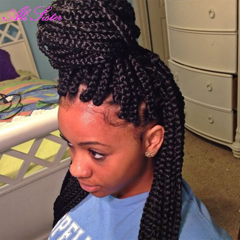 Crochet Box Braids Big : Braiding Hair Senegalese Twist Hair Box Braid Extensions Crochet Braid ...