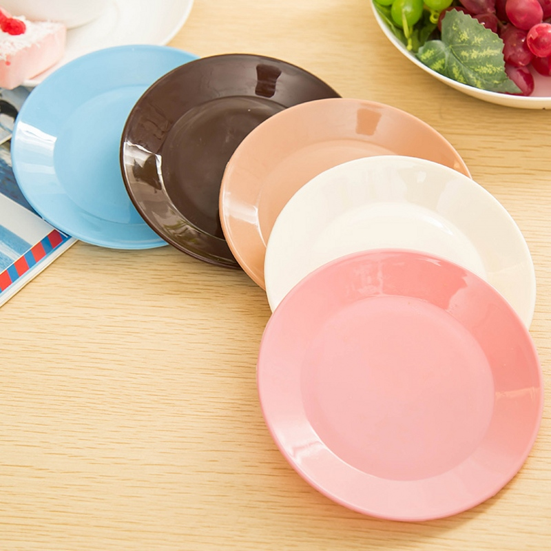 Colorful Food Grade Plastic Tableware Small Dish SnackMelon Seeds Flat Plate Scare Buying No limited(China (Mainland))
