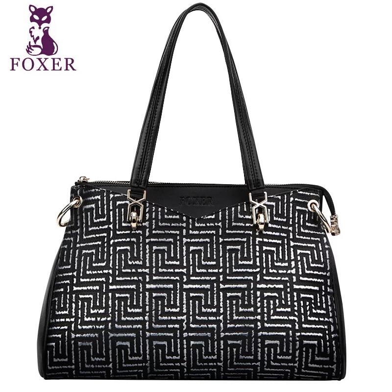 2015 Fashion Famous Brand Women Genuine Leather Bag Luxury Foxer High Quality Women Handbags Women Plaid Zipper Shoulder Bags<br><br>Aliexpress