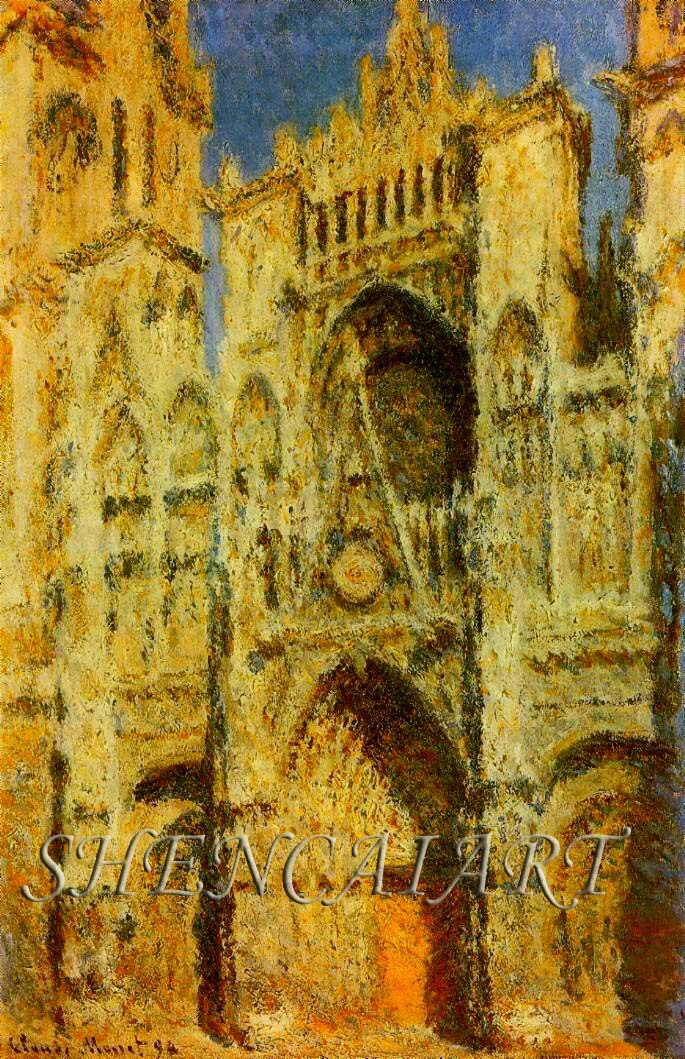 Portal in the Sun II - (Claude Monet - 1893) Handpainted seascape painting on canvas Free Shipping!(China (Mainland))