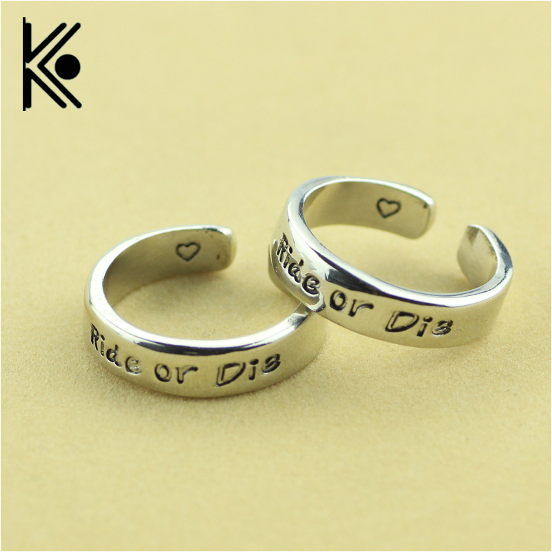 Popular matching friendship rings buy cheap matching for Ride or die jewelry