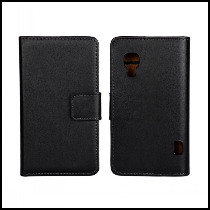 Phone Accessory For LG L5 II E460 Mobile Cover Stand Protective Shell Card Slot Leather Wallet Bag For LG L5 II E460 Case(China (Mainland))