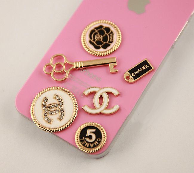 6pcs/Set Charm Alloy Designer Letters Jewelry Findings Diy Phone Case Material Diy Shoes/Purse/Handbags Rhinestone Decoration(China (Mainland))