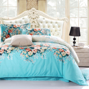 2015 NEW Hot!!!Free Shipping 82 Types Reactive Printing BEDDING 4PCS Bedding Set pillowcase queen king size QUILT COVER BED SET(China (Mainland))