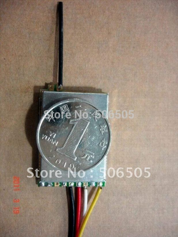 mini 2.4G Audio Video Receiver Module 2.4GHz wireless tiny transmitter's receiver  Not including transmitter