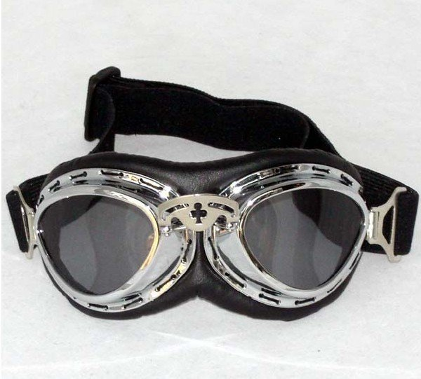 free shipping by EMS (10pcs) helmet motorcross goggles motorcycle vintage pilot biker goggle T07 4 lens color