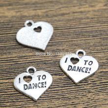 Buy 15pcs- Heart Charms Antique Tibetan Silver Tone love dance charm pendants 18x18mm for $2.27 in AliExpress store