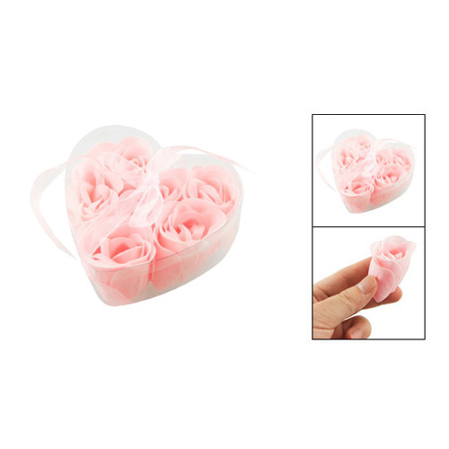 6 Pcs Light Pink Decorative Fragrant Rose Bud Petal Soap Wedding Favor,Free Shipping(China (Mainland))