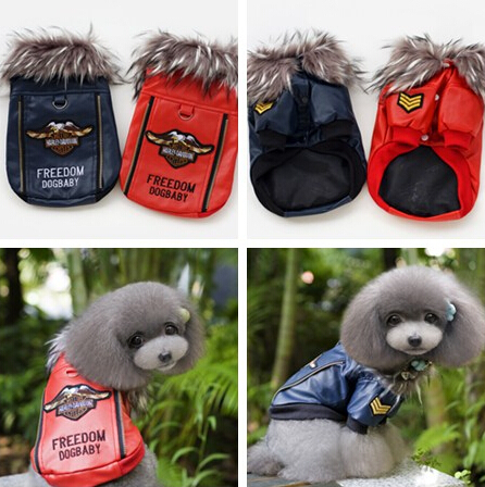 Dog Leather Jacket Thick Collar Animal Pattern Pet Small&Medium&Large&Extra-Large Size+Support Drop Shipping - Fashion Trendy Clothing store