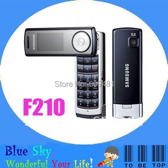 free shipping unlocked phones original Samsung F210 cell phones 2.0MP camera bluetooth FM MP3 player factory refurbished(China (Mainland))