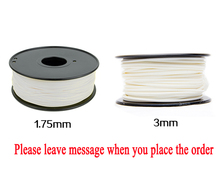 White colors 3d printer PLA filament 1.75mm 3mm ABS Consumables Material pear white Free shipping