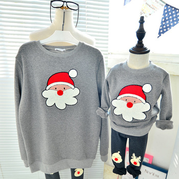 Family Christmas clothes mother daughter father son pullover sweater children fashion hoodies Chico chica regalos de navidad