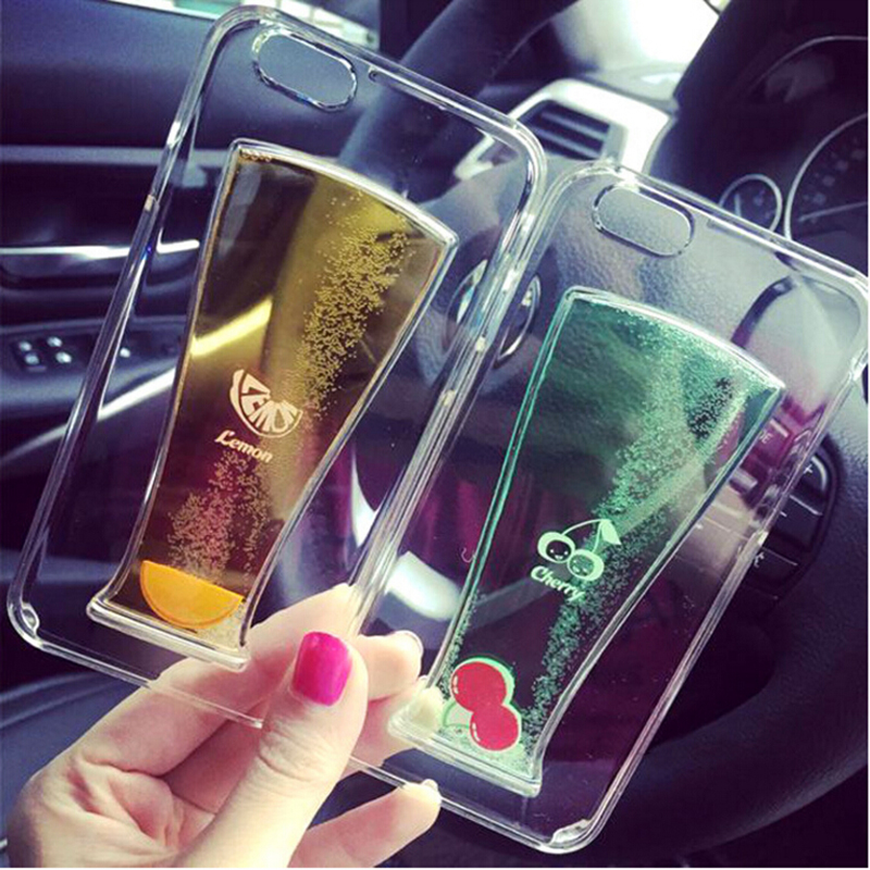 New Fruit Juice Coke Beer Soda Cup Flow Liquid Hard Back Cover PC Clear Transparent Phone cases for iphone 5 5S Protective case(China (Mainland))