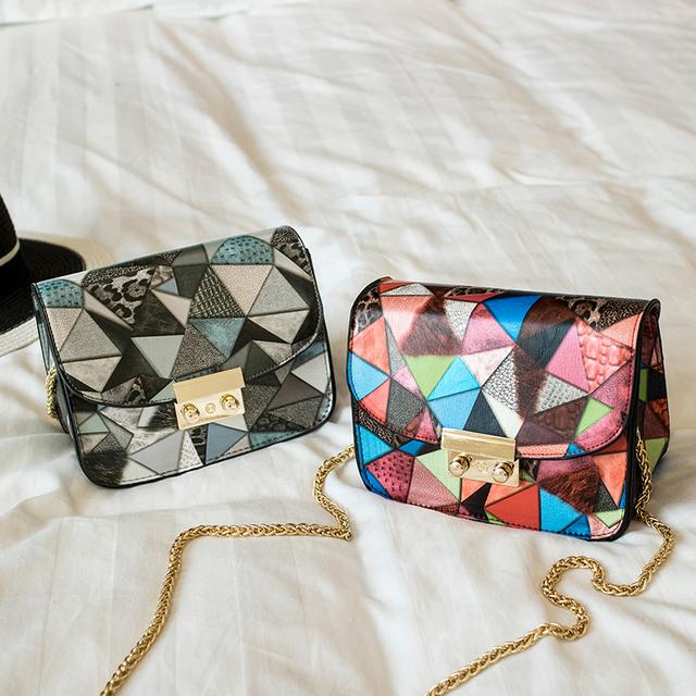 Мини-прекрасный мода шить цвета pu кожаная сумка женская сумка мини-сумка сеть кошелек свободного покроя сумки 2 цвета