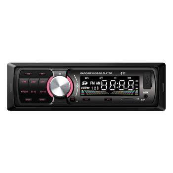 Free shipping 25WX4 car mp3 player 1 din In-dash 12V LCD Display FM Radio Tuner USB/SD With remote control preset 18 stations