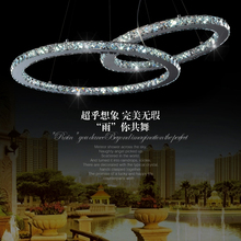 Pendant light brief crystal lamp living room lights led modern fashion bedroom lamps remote control switch fashion lighting(China (Mainland))