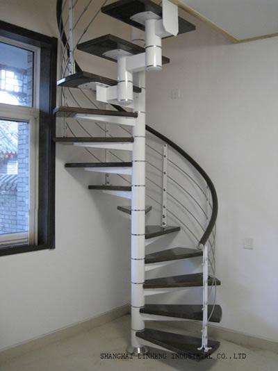 Spiral Wood Steel Stair(LH-SC002)(China (Mainland))