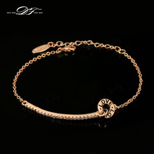 Buy Double Fair Brand Love Cubic Zirconia Retro Hand Chain Bracelets&Bangles Rose Gold Color Vintage Jewelry Women DFH143 for $3.73 in AliExpress store