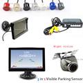 Wholesale HD 5 TFT Monitor Display Car Video Parking Sensor Reverse 4 Radar System Reversing Waterproof