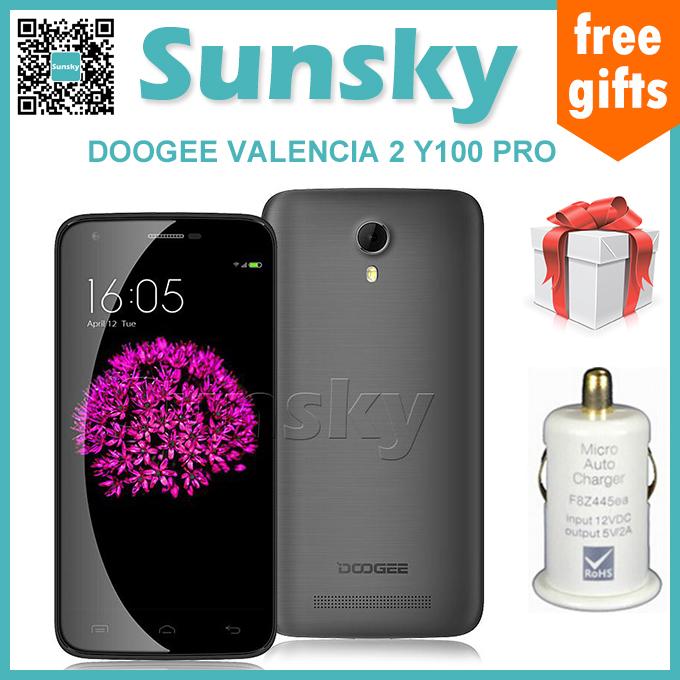 Original DOOGEE VALENCIA 2 Y100 PRO 5.0inch 2.5D Corn ing Gorilla Glass 64bit 4G FDD-LTE Android 5.1 Cellphone MTK6735 Quad Core(China (Mainland))
