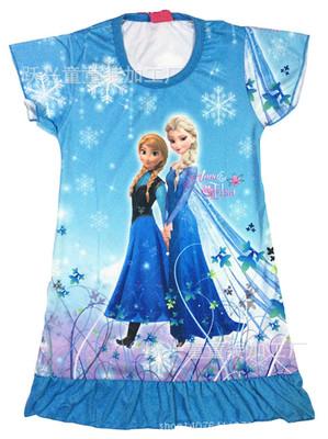 Elsa Anna Cinderella Princess girl's nightgown,Rapunzel snow white girl Pajamas Dress,Girl's Casual dress ,KidsSleepwear Pyjamas(China (Mainland))