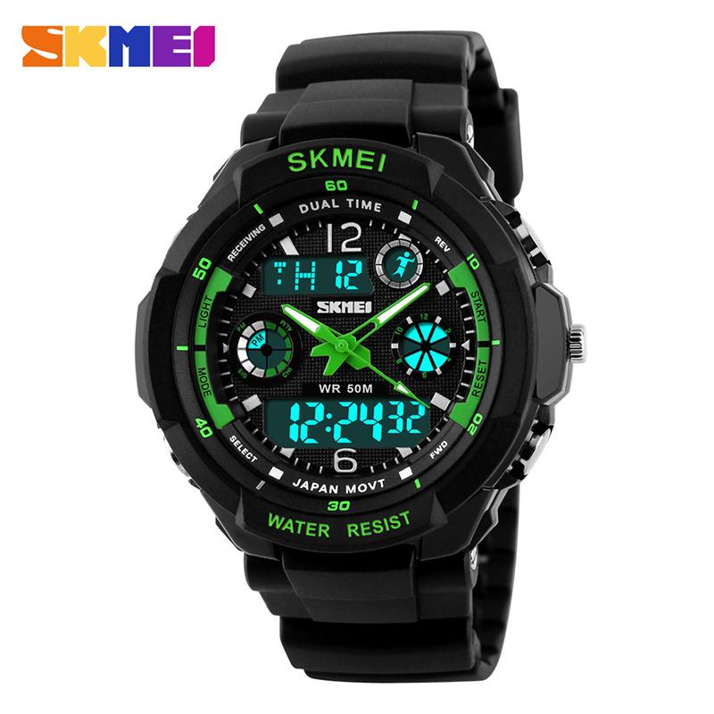 SKMEI 0931 Men Dual Display Wristwatches Alarm Chrono Calender Waterproof Quartz Digital LED Sports Watches Relogio Masculino