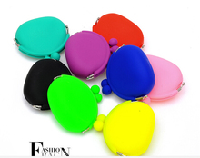 Free shipping Fashion Women coin purses bag candy color silicone coin purse female lovely mini packet key case(China (Mainland))