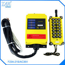 Buy high 24V 220V AC 1 Speed 1 Transmitter 21 Channels Hoist Crane Industrial Truck Radio Remote Control System Controller for $102.90 in AliExpress store