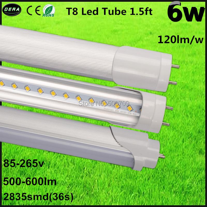 Free shipping 4pcs/lot Good price t8 led tube light 450mm 6w 1.5ft led tube lamp AC85-265v led fluorescent tube warm/cold white(China (Mainland))