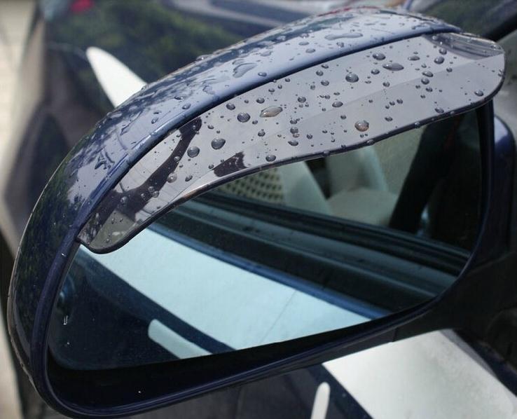 2 pieces / lot universal Car Rear View mirror Rain Shield Flexible Guard car sticker styling(China (Mainland))