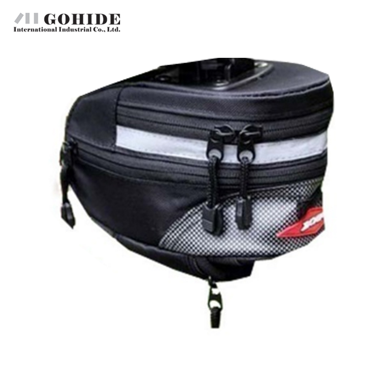 Gohide Mountain Road Bicycle Cushion Tool Hang Back Bag Cycling Saddle Back Seat Tail Pouch Package Bag Brand New With Zipper(China (Mainland))