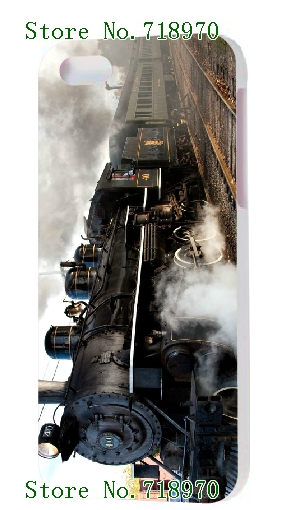 free shipping ! 2014 new arrival HOT selling Steam Engine Locomotive Train designs luxury white hard case cover for iphone5 5s(China (Mainland))